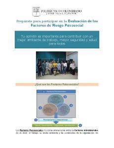Prepárate para participar en la Evaluación de los Factores de Riesgo Psicosocial