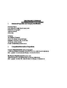 Preparation and Company Identification