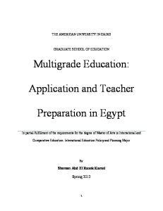 Preparation in Egypt