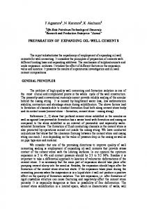 PREPARATION OF EXPANDING OIL-WELL CEMENTS