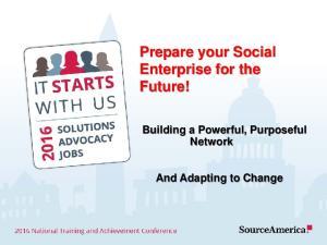 Prepare your Social Enterprise for the Future!