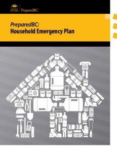 PreparedBC: Household Emergency Plan