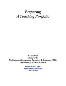 Preparing A Teaching Portfolio