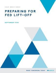 PREPARING FOR FED LIFT-OFF