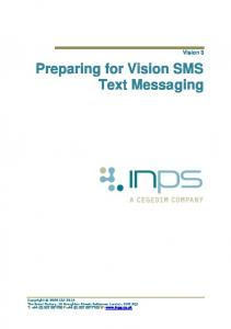 Preparing for Vision SMS Text Messaging