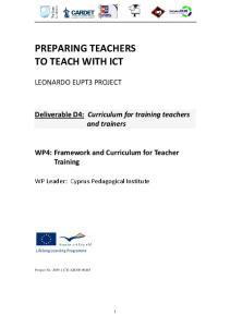 PREPARING TEACHERS TO TEACH WITH ICT