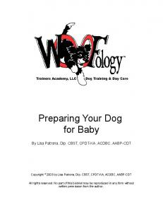 Preparing Your Dog for Baby