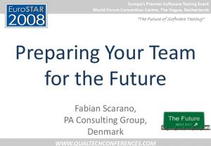 Preparing Your Team for the Future