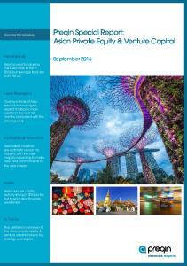 Preqin Special Report: Asian Private Equity & Venture Capital