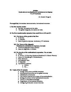Prerequisites: Intermediate microeconomics, international economics