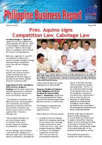 Pres. Aquino signs Competition Law, Cabotage Law