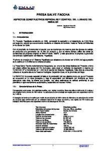 PRESA SALVE FACCHA ASPECTOS CONSTRUCTIVOS ESPECIALES Y CONTROL DEL LLENADO DEL EMBALSE