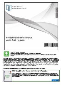 Preschool Bible Story Of John And Heaven