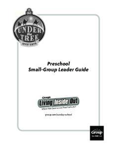 Preschool Small-Group Leader Guide