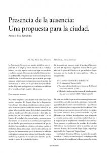 Presencia de la ausencia: Una propuesta para la ciudad