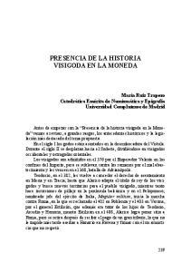 PRESENCIA DE LA HISTORIA VISIGODA EN LA MONEDA