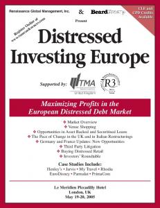 Present. Maximizing Profits in the European Distressed Debt Market