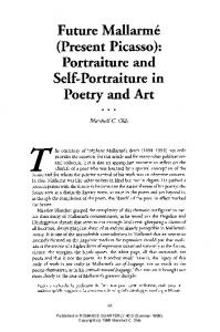 (Present Picasso): Portraiture and Self-portraiture in Poetrv and Art