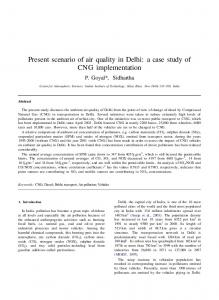 Present scenario of air quality in Delhi: a case study of CNG implementation