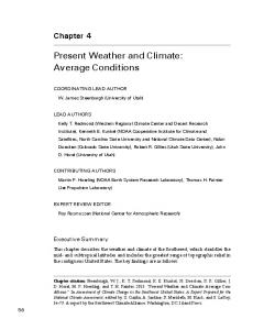Present Weather and Climate: Average Conditions