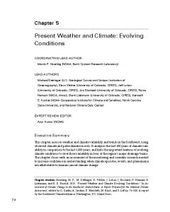 Present Weather and Climate: Evolving Conditions