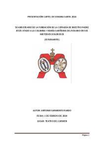 PRESENTACIÓN CARTEL DE SEMANA SANTA 2014 (ESTUDIANTES)