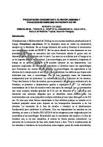 PRESENTACION CONCOMITANTE DE HISTOPLASMOSIS Y PARACOCCIDIODOMICOSIS EN PACIENTE NO VIH