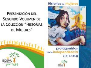 PRESENTACIÓN DEL SEGUNDO VOLUMEN DE LA COLECCIÓN HISTORIAS DE MUJERES
