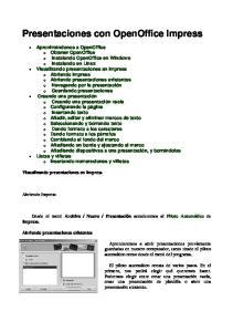Presentaciones con OpenOffice Impress