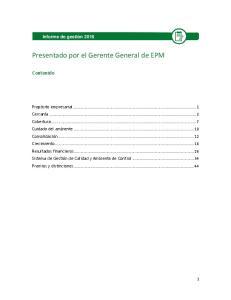 Presentado por el Gerente General de EPM