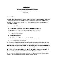 Presentation 3 EXAMPLES OF PROJECT DESIGN DOCUMENT(PDD) Atul Raturi