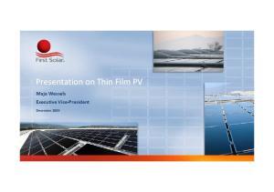 Presentation on Thin Film PV