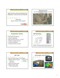 Presentation Outline. Soil Sampling. Automation and Precision. Soil Test