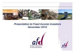 Presentation to Fixed Income Investors November Page 1