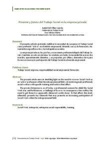 Presente y futuro del Trabajo Social en la empresa privada