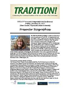 Presenter Biographies