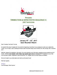 Presents TIMBER TOUR & SUPER YOUTH CHALLENGE # INVITATION