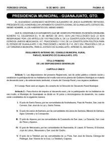PRESIDENCIA MUNICIPAL - GUANAJUATO, GTO