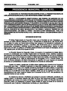 PRESIDENCIA MUNICIPAL - LEON, GTO