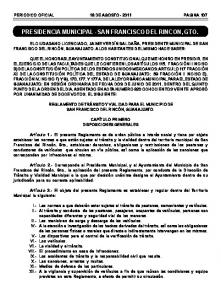 PRESIDENCIA MUNICIPAL - SAN FRANCISCO DEL RINCON, GTO