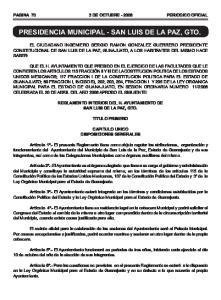 PRESIDENCIA MUNICIPAL - SAN LUIS DE LA PAZ, GTO