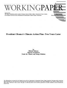 President Obama s Climate Action Plan Two Years Later