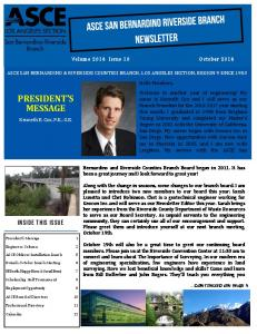 PRESIDENT S MESSAGE. Inside this issue. Volume 2016 Issue 10 October 2016