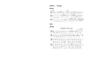 Presider. Hymn. All Sing