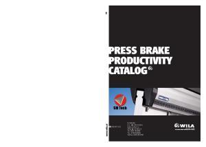 PRESS BRAKE PRODUCTIVITY CATALOG$
