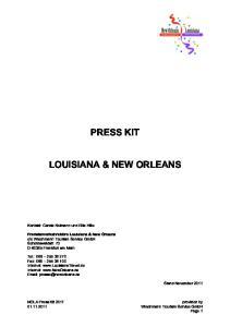 PRESS KIT LOUISIANA & NEW ORLEANS
