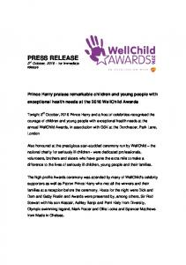 PRESS RELEASE 3 rd October, for immediate release