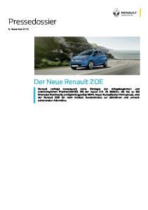 Pressedossier. Der Neue Renault ZOE. 6. Dezember 2016