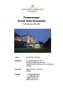 Pressemappe Grand Hotel Kronenhof