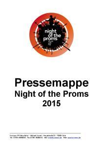 Pressemappe Night of the Proms 2015